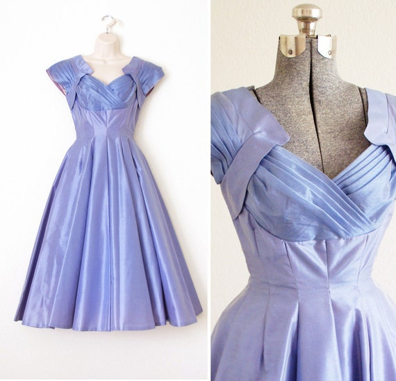 RESERVED - 1950s Periwinkle Dream Dress - XS - S