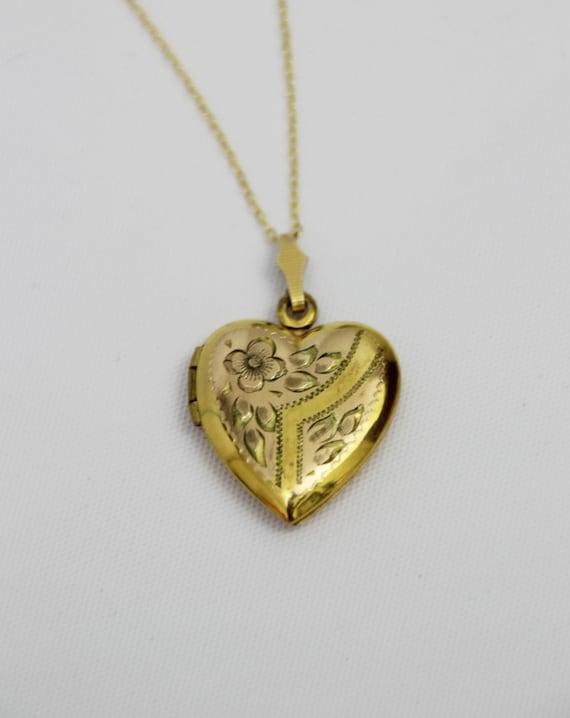 1950s Vintage Gold Heart Locket