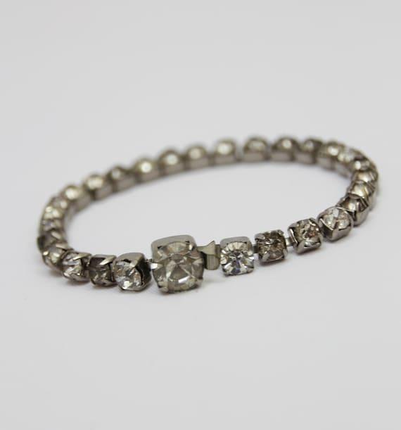 Mid-Century Rhinestone Bracelet