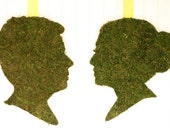 Custom Moss Silhouettes made from your photos by Simply Silhouettes