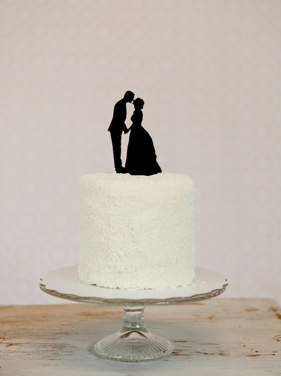 We Put YOUR OWN Custom Silhouettes On A Wedding Cake Topper