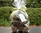 Pretty Bag of Pine Cones--Natural
