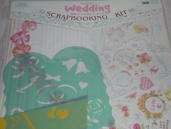Wedding Scrapbook Kit - Scrapbook supplies, scrapbook paper, stensil