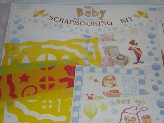 Scrapbook Kit, BABY - Gender Neutral - stencil, supplies, destash
