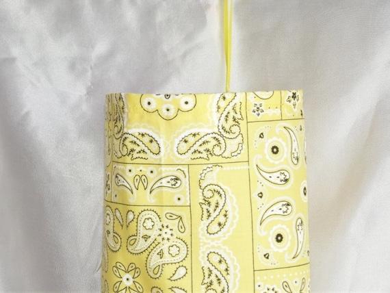 Closet Organizer - Plastic Bag Holder - Yellow bandana Print