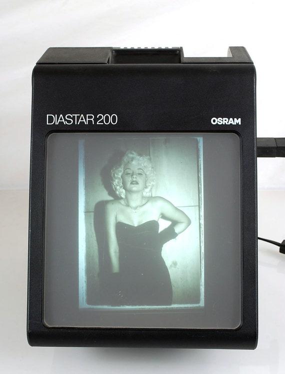 Osram DIASTAR 200 35mm Slide Viewer Large Screen Made in Austria