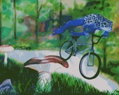 """Print: """"Leap Frog"""" by Gina Edwards (8x10)"""