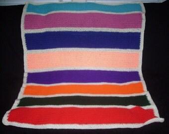 Bold Stripes Kids Afghan