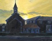 """Awakening, 12x12"""", oil on canvas"""