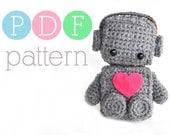 Amigurumi Romantic Robot - Crochet PDF Pattern