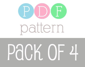 PATTERN PACK - Pick Any 4 PDF Crochet Patterns