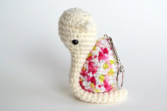 Amigurumi Snail - Crocheted Keychain - Zipper Pull - Charm