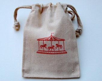 Muslin Bags/ Merry Go Round/ Carousel / Set of 20