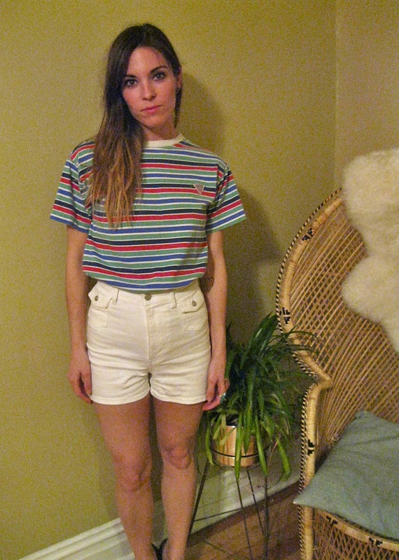 Vintage Guess Striped T Shirt