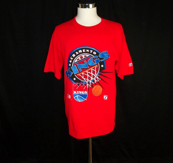 Vintage 90's Sacramento Kings NBA Jersey Red T-Shirt Sz XL