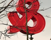 """8 x 10 photo of an """"AND"""" / ampersand sign, Valentine's Day, Olympic Sculpture Park, Seattle, Washington, USA"""