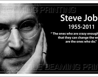 "STEVE JOBS Apple iPhone 4S Premium Glossy 6""x11"" Poster & 4""x6"" Postcard"