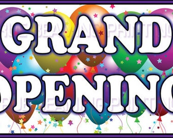 3ft x 5ft Business GRAND OPENING BANNER sign with Free Rope