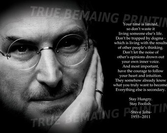 """24""""x36"""" Steve Jobs Poster, """"Your time is limited"""" Premium Popup Poster Print"""