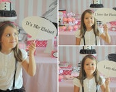 Eloise at the Plaza - Printable Custom Speech Balloons - Photo prop