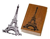 Paris Eiffel Tower Wooden Stamp