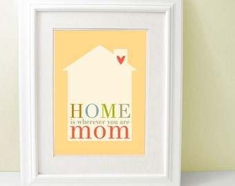 Mom's Day Art Print Modern Typography Print Mother Gift Mother Love Housewarming I love my Mom Sweet Home Decor Wall Art SALE buy 2 get 3