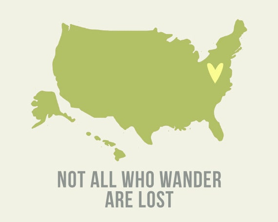 Not All who WANDER are lost USA - 8x10 inch fine art print SALE  buy 2 get 3