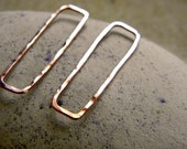 Geometric Rectangles Connectors in Copper, Silver, or Vermeil - 1 Pair