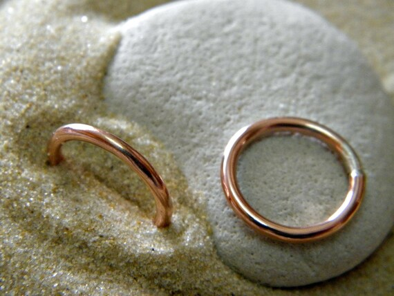 Halo Rings in Copper - 1 Pair