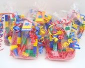 Building block themed birthday party favor treat bags set of 28, free personalization - PREMIUM SIZE