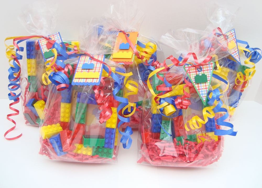 Custom Order Lego themed birthday party favor treat by miamimere