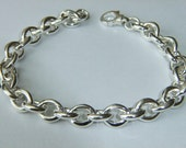 Heavy Silver Bracelet Handmade in 925 Solid Sterling Silver Chunky Mens Jewelry