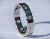 Wedding Rings Handmade  Ladies 18k White Gold and VS2 Clarity Diamond Wedding Band