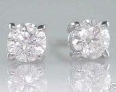 Diamond Stud Earrings Brilliant  Round Cut 0.20ct F Colour VS2 Clarity 18k White Gold Ladies Studs