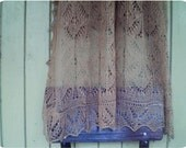 RESERVED SALE Queen Silvia hand knitted lace shawl in camel brown merino-cashmere-silk vintage style Estonian Haapsalu shawl