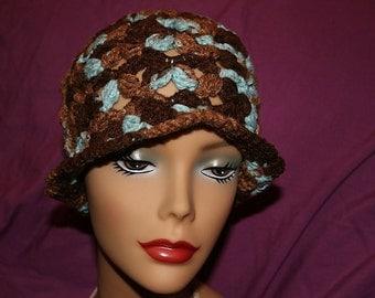 Crochet Earth and sky hat teen adult women