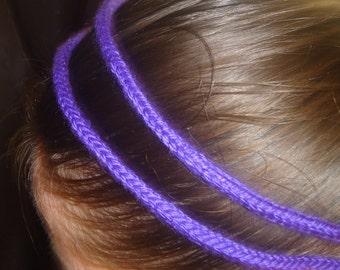 Bright purple knit headband