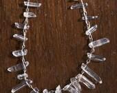 33) Crystal Quartz Necklace-- SALE