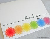 Rainbow Thank You Cards - Set of 5