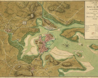 1776 Map of Boston