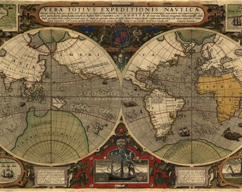 1595 Map of the World