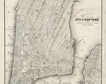 1860 Map of New York City