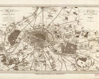 1805 Map of Paris