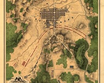 1863 Map of Gettysburg