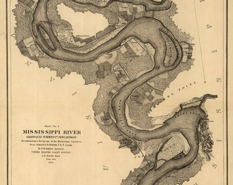 1864 Map of the Mississippi River