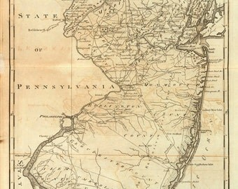 1795 Map of New Jersey