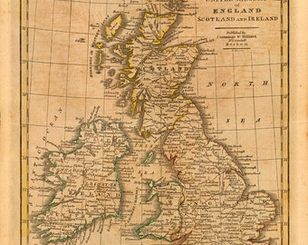 1821 Map of The United Kingdom