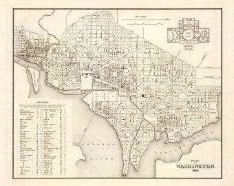 1845 Map of Washington D.C.
