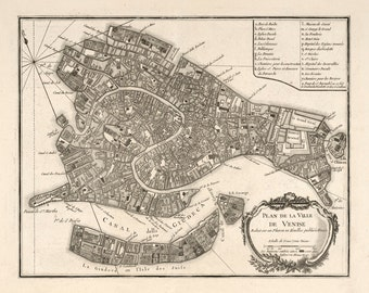 1764 Map of Venice, Italy