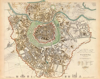 1833 Map of Vienna
